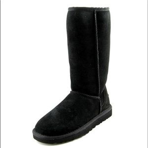 UGG Classic Tall Black Suede Boots #5815